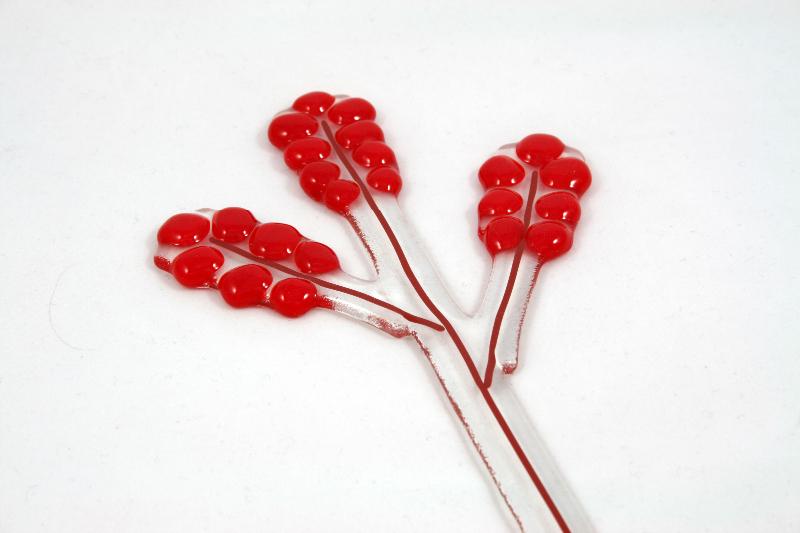 Blomdekor Gräslik röd